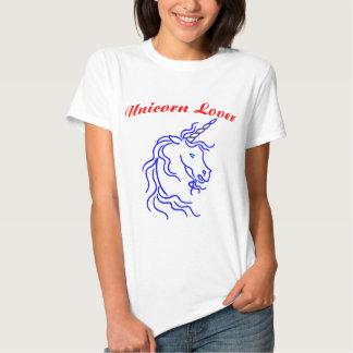 Amante del unicornio remeras