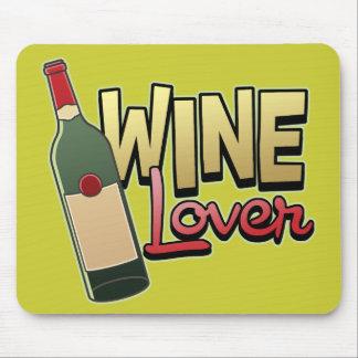 Amante del vino alfombrilla de raton
