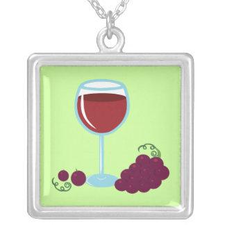 Amante del vino colgante cuadrado