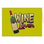 Amante del vino felicitación