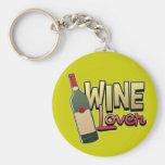 Amante del vino llaveros