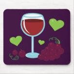 Amante del vino tapetes de ratones