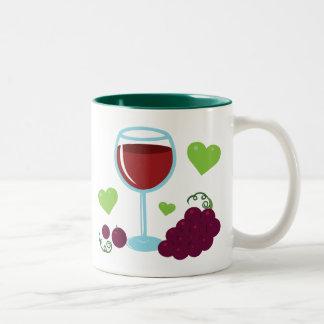 Amante del vino tazas