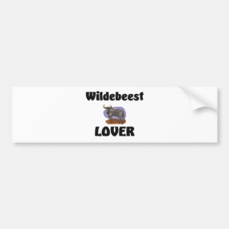 Amante del Wildebeest Pegatina De Parachoque