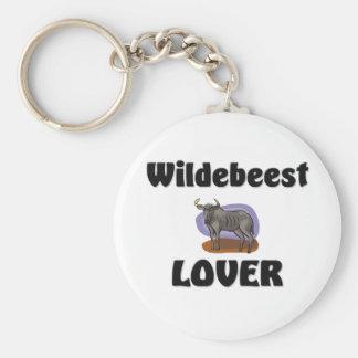 Amante del Wildebeest Llaveros