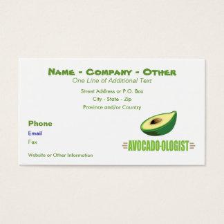 Amante divertido del aguacate tarjetas de visita