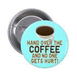 Amante divertido del café pin