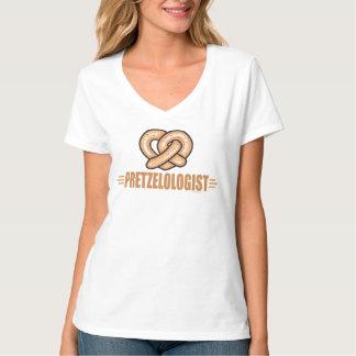 Amante divertido del pretzel playeras