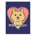 Amante finlandés del perro de Pomerania Tarjeta Postal