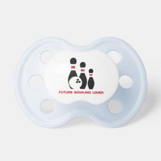 Amante futuro de los bolos. Bola y pernos de bolos Chupetes Para Bebés
