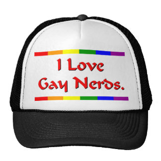 Amante gay del empollón gorro de camionero