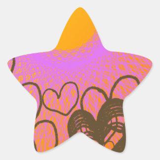 amante hermoso del sol pegatina en forma de estrella