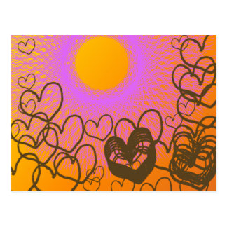 amante hermoso del sol tarjeta postal