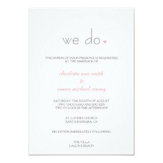 {Amante} invitación moderna del boda