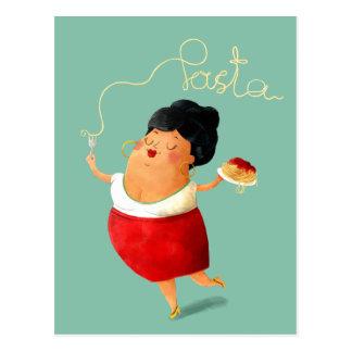 Amante italiano de las pastas de los espaguetis postal
