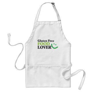 Amante libre de la comida del gluten delantal