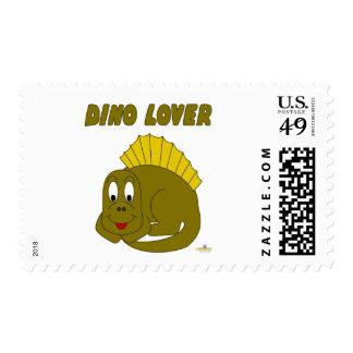 Amante lindo de Dino del dinosaurio del amarillo Franqueo