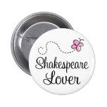 Amante lindo de Shakespeare Pins