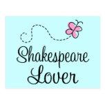 Amante lindo de Shakespeare Tarjetas Postales
