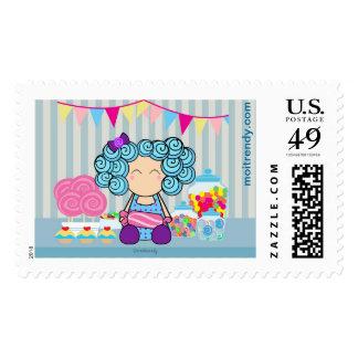 Amante lindo del caramelo sello de 46 centavos
