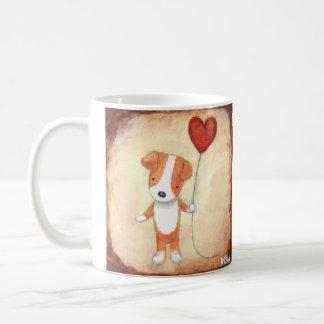 Amante lindo del mascota del amor adolescente del taza clásica