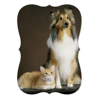 Amante lindo divertido moderno del mascota invitación 12,7 x 17,8 cm