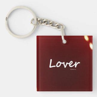 Amante Llavero Cuadrado Acrílico A Una Cara