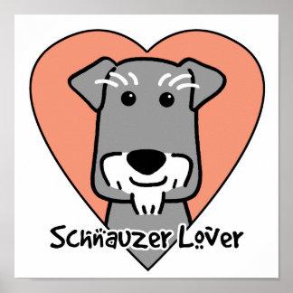 Amante miniatura de Schauzer Impresiones