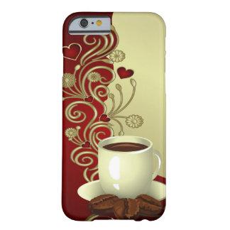 Amante moderno del café funda de iPhone 6 barely there