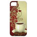 Amante moderno del café iPhone 5 funda
