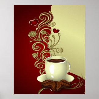 Amante moderno del café póster