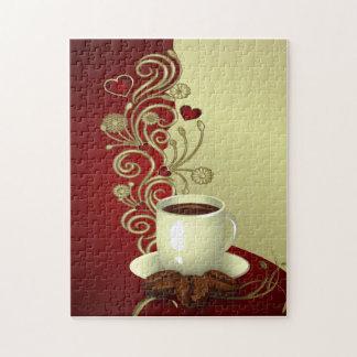 Amante moderno del café puzzles con fotos