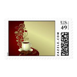 Amante moderno del café sello