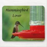 Amante Mousepad del colibrí Tapete De Ratones