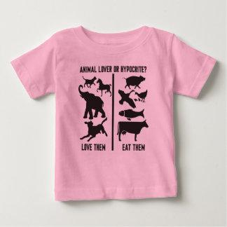 ¿Amante o hipócrita animal? Playera De Bebé