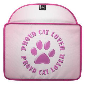 Amante orgulloso del gato fundas macbook pro