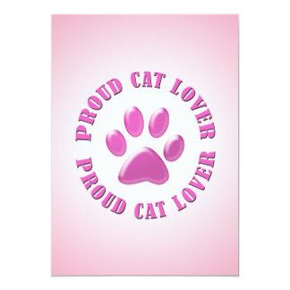 Amante orgulloso del gato invitaciones personalizada