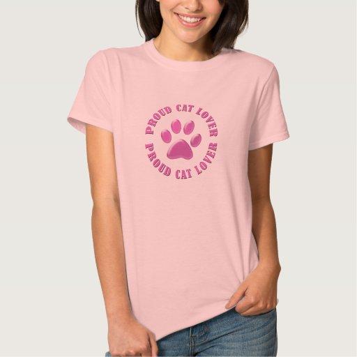 Amante orgulloso del gato tee shirt