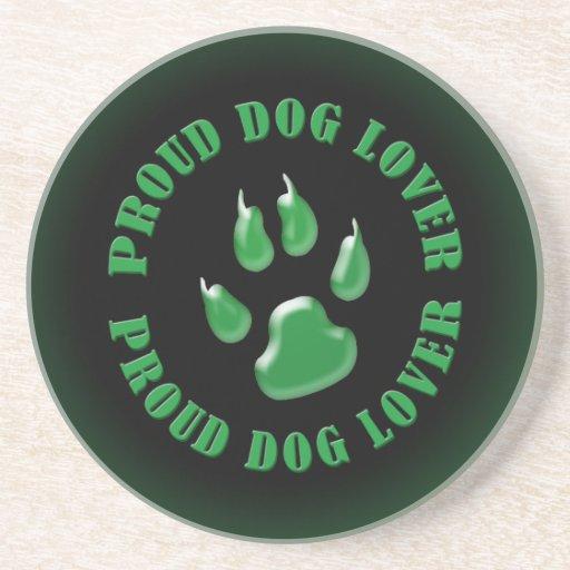 Amante orgulloso del perro posavasos para bebidas
