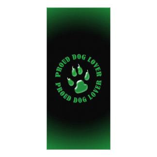 Amante orgulloso del perro plantillas de lonas
