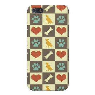Amante pern a cuadros del mascota del hueso del co iPhone 5 funda