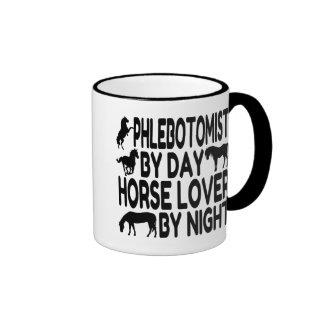 Amante Phlebotomist del caballo Taza De Dos Colores