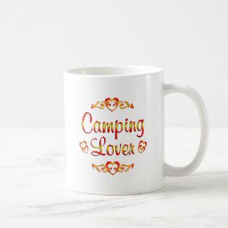 Amante que acampa taza
