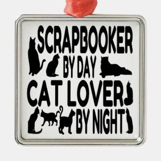 Amante Scrapbooker del gato Adorno De Navidad
