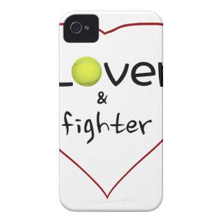 Amante y un regalo del tenis del combatiente iPhone 4 Case-Mate cárcasas