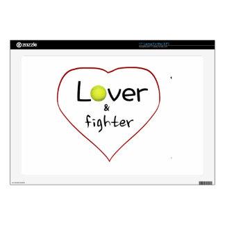 Amante y un regalo del tenis del combatiente portátil calcomanía