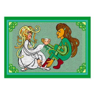 Amantes célticos del knotwork tarjetas de visita grandes