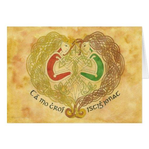 Amantes célticos tarjeton