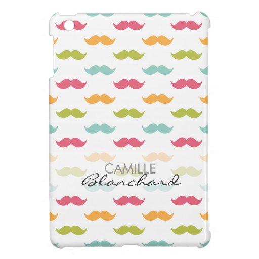 Amantes coloridos personalizados del bigote iPad mini funda