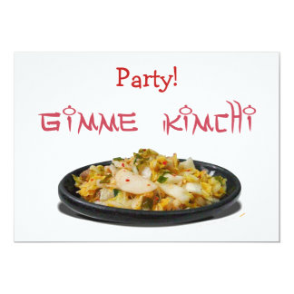 Amantes de Gimme Kimchi Kimchi Invitación 12,7 X 17,8 Cm